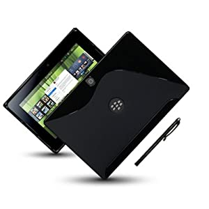 BLACKBERRY PLAYBOOK GEL CASE - BLACK, with touchscreen stylus