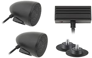 Cycle Sounds Sport Bike Audio System with 2in. Bullet Speakers - Black 1102-0621 by Cycle Sounds