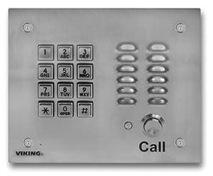 Viking Electronics SS Handsfree Phone W/ Key Pad (VK-K-1700-3EWP)