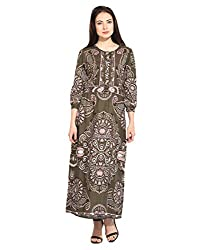 Printed Maxi Dress Large