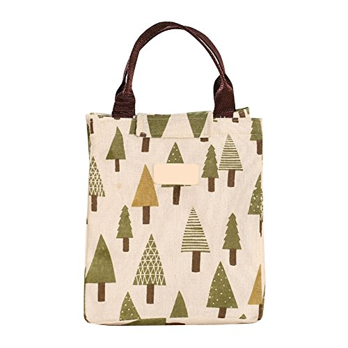bonaweite-long-insulated-lunch-tote-bags-cooler-box-canvas-picnic-pouch-tree