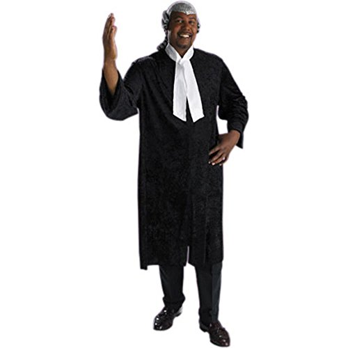 Adult Men's Plus Size Barrister Judge Costume (Size: XX-Large: 48-25)