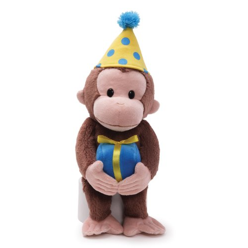 fe18da1066 Features of Gund Curious George Dressed for a Birthday 14 Plush on ...
