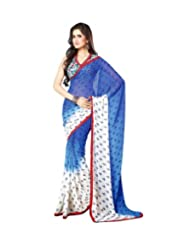 Triveni Dual Shaded Fancy Chiffon Printed Saree 1145d