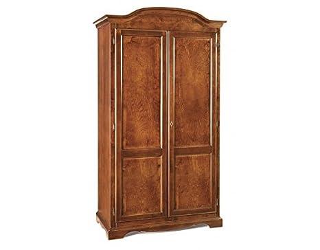 Holz Kleiderschrank mit 2Turen, 107x 55x 197cm