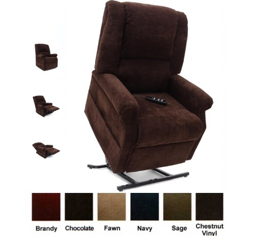 Mega Motion Infinate Position Power Easy Comfort Lift Chair Lifting Recliner FC-101 Infinite Recline Rising Electric Chaise Lounger - Chestnut Vinyl (Mega Motion Infinite Position compare prices)