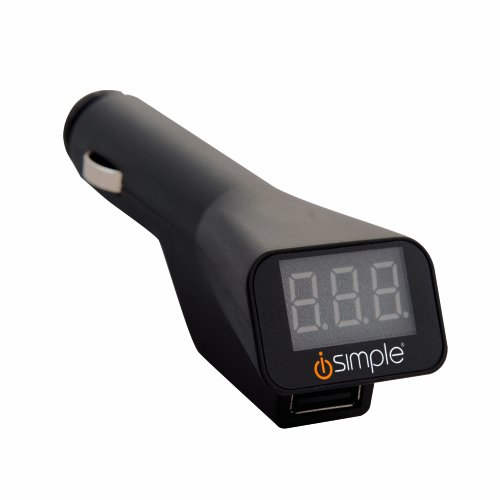 Isimple Hubvolt Vm Usb Charger With Digital Voltage Meter, Is4551