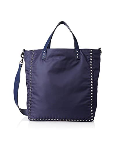 Valentino Men's Tall Nylon Tote, Navy