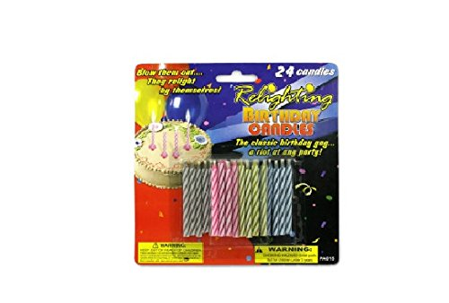 Relighting birthday candles - Case of 24 - 1