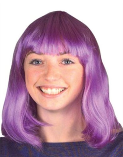 New Mens Womens Child Costume Purple 80s Flip Party Wig