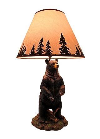 Bear Table Lamp w/ Silhouette Shade - Wildlife Lamps - Amazon.com