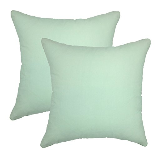 your-smile-100-cotton-decorative-throw-pillow-case-18-x-18-solid-color-2-pack-teal