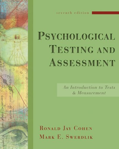 Psychological Testing and Assessment: An Introduction to...