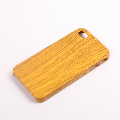Imitation Wood Grain Design PC Plastic Back Case Cover For iPhone 4 4S