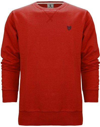 Lyle & Scott Heritage Men's Cotton Sweatshirt Jumper Guardsman Red (M)