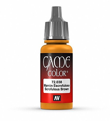 Vallejo Game Color Scrofulous Brown Paint, 17ml