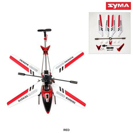 Syma S107G 3.5 Channel RC Helicopter with Gyro, Red W Extra Replacements parts A $10 add on value (Syma 107 Replacement Parts compare prices)