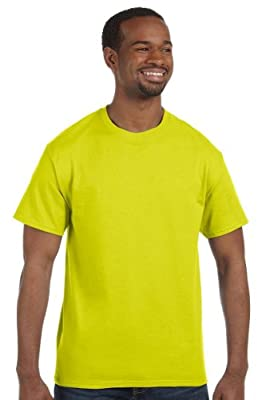 Hanes - 6 oz. Tagless T-Shirt >> 3XL,SAFETY GREEN