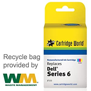 Cartridge World Remanufactured Ink Cartridge Replacement for DELL Series 6 (Tri-Color)