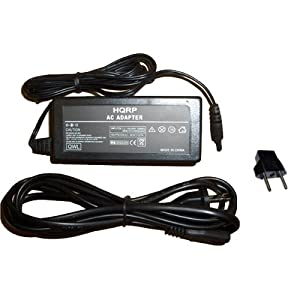 HQRP Replacement AC Adapter / Power Supply for Canon Optura 100MC, Optura 200MC, Optura Pi Digital Camcorder - (incl. USA Plug & Euro Adapter)