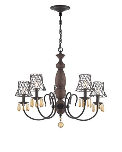 Varaluz Madelyn 5-Light Chandelier, Vintage Amber