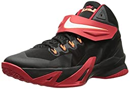 Boy\'s Nike Soldier VIII Basketball Shoe Black/Red/White Size 6.5 M US