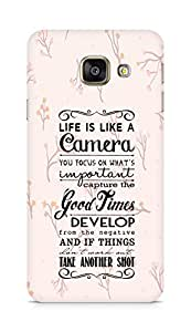 AMEZ life is like a camera Back Cover For Samsung Galaxy A3 (2016 EDITION)