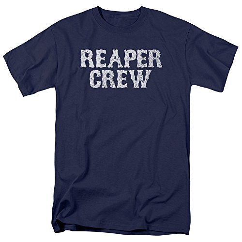 Sons Of Anarchy Reaper Crew Mens Short Sleeve Shirt Navy 2X