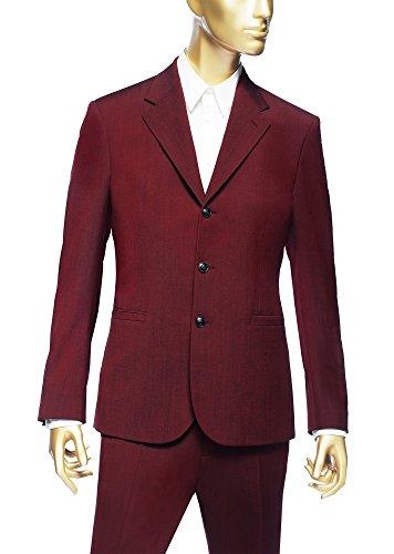 Versace Mens Wool Blazer, IT48, Wine Red