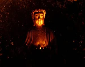 Large Garden Buddha, Solar Powered Lights Up At Night