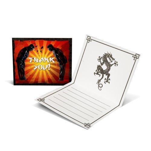 Martial Arts Thank-You Notes (8) Party Supplies