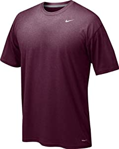 Nike Men's Legend Short Sleeve Tee, Maroon, L