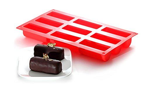 Yoko Design 1256 Moule pour Mini Buches Silicone/Platinum Rouge 30 x 17,3 x 4 cm