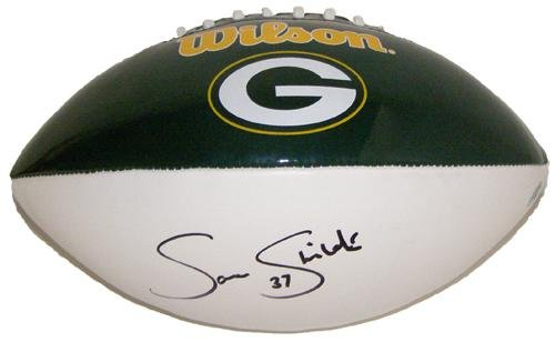 Sam Shields Autographed Football - White Panel - Autographed Footballs