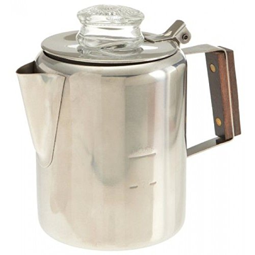 18/8 Stainless Steel Percolator, 12 Cup, 412, Rapid brew, stovetop (Campfire Percolator Coffee compare prices)