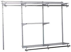 Rubbermaid Configurations Custom Closet Organizer, Classic, 3 to 6 Foot, Titanium (FG3H11DWTITNM)