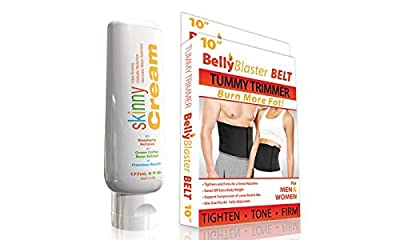 Skinny Cream Cellulite Reduction Cream, 6oz With 8-Inch. Belly Blaster Belt