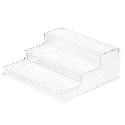 InterDesign Linus Spice Rack, Organizer for Kitchen Pantry, Cabinet, Countertops - 3-Tier, Clear (Countertop Organizer Rack compare prices)