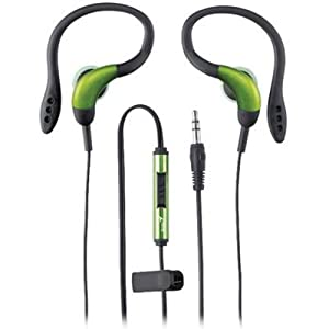 Genius GHP-205X Clip-On Sports Headphones with Flexible Earhook, Crystal Sound and Deep Bass - Green