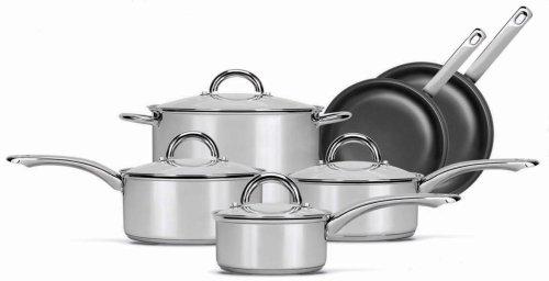 best buy range kleen 10 piece cookware set free shipping elegant by cookware sets. Black Bedroom Furniture Sets. Home Design Ideas