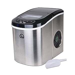 Amazon.com: Igloo Stainless Steel Portable Countertop Ice Maker w/ Ice ...