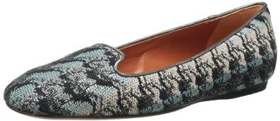 Missoni Women's Woven Loafer,Blue/Silver,6.5 M US