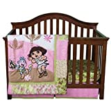 Trend Lab Nickelodeon 5 Piece Crib to Toddler Bedding Set, Dora the Explorer Exploring the Wild