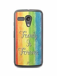 YuBingo Family is Forever Designer Mobile Case Back Cover for Motorola G