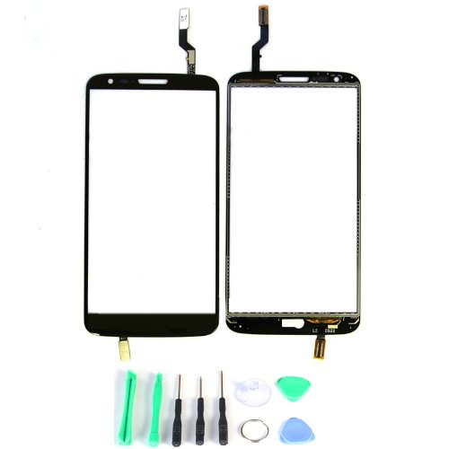 Generic Touch Screen Digitizer Outer Glass Replacement (Lcd Display Not Included) For Lg G2 D802 (Black)