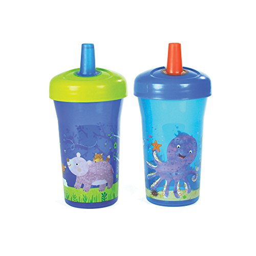 The First Years Simple Straw Cup - 9oz, 2 pack, Blue (The First Years 2 Pack Sippy Cup compare prices)