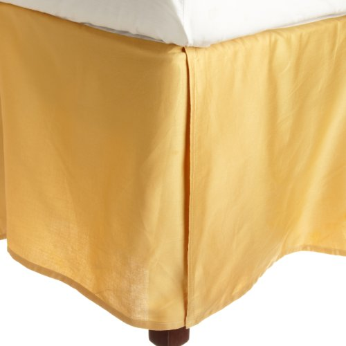 Impressions Genuine Egyptian Cotton 300 Thread Count Pleated Queen Bed Skirt Solid, Gold front-792963
