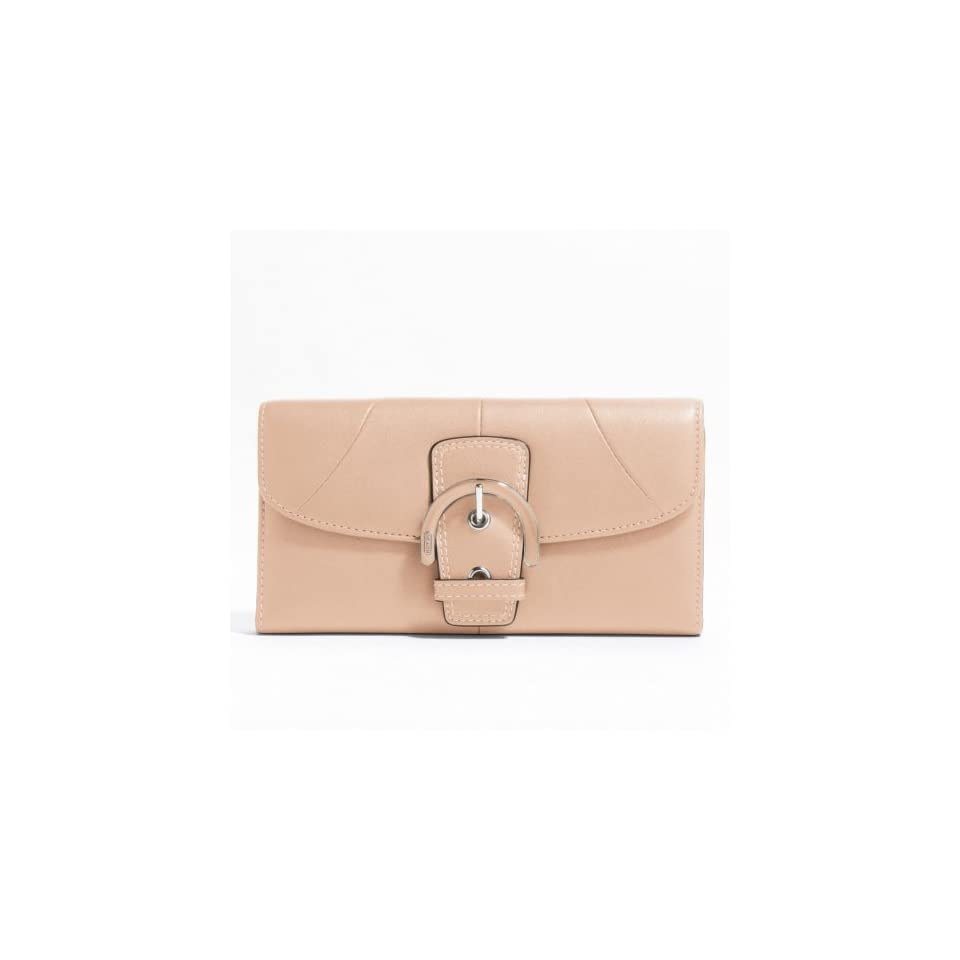 Coach Soho Leather Buckle Clutch Wallet F45622 (SV/Shell Pink)