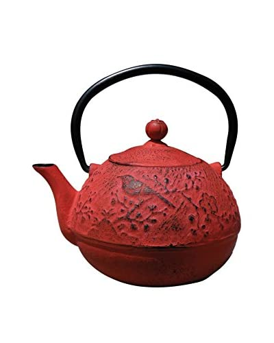 Old Dutch International Cast Iron 24-Oz. Suzume Teapot, Red