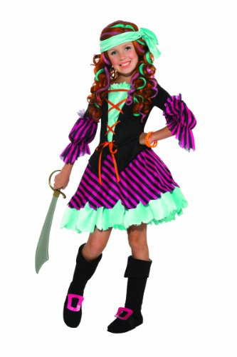 Salty Taffy Girl's Pirate Costume, Medium image